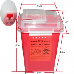 HS41 sharp apparatus collecting bin Red