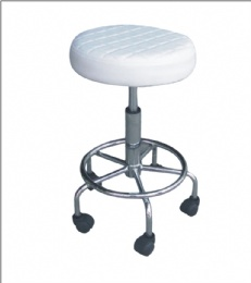 TF41 White Adjustable Rolling Stool Tattoo Tattoo Stool