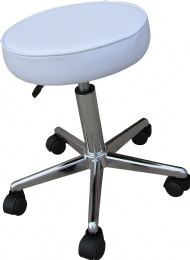 TF42 White Tattoo Stool Chair, Hydraulic Adjustable Tattoo Stool Tattoo Equipment