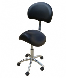 TF52 Back Rest Tattoo Stools Rubber Wheels black