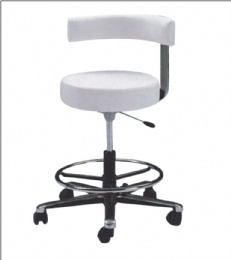 TF54 Commercial Grade White Medical Dental Tattoo Salon Stools Chairs With Back